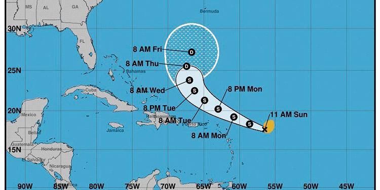 A la tormenta tropical Peter, que se formó a primeras horas del domingo cerca de las Antillas Menores, se sumó en el extremo este de la cuenca atlántica Rose. (LASSERFOTO EFE)