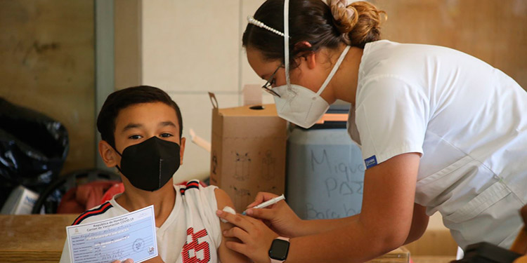 La vacunación infantil fue todo un éxito en San Pedro Sula, por lo que se extendió hasta hoy.