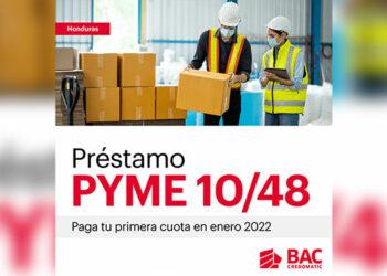 El Préstamo PYME 10/48 cuenta con competitivos beneficios como ser: Tasa de interés del 10% anual en lempiras, perÍodo de gracia para que pagues tu primera cuota hasta enero 2022  y hasta 48 meses de plazo.