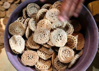 Imagen de archivo de unas galletas saladas elaboradas con almidón. EFE