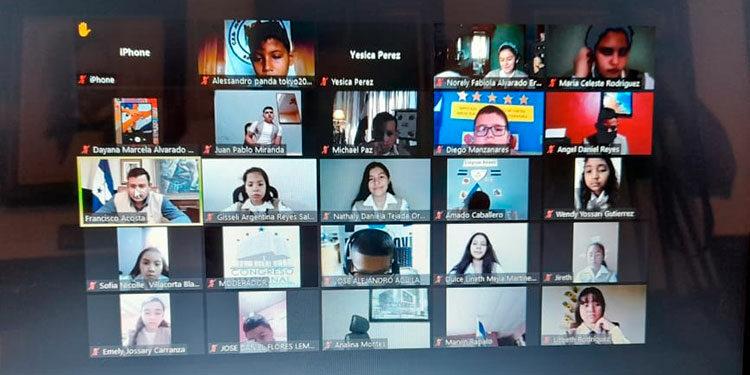 El Congreso Infantil 2021 inició ayer, de forma virtual, con niños diputados de los 18 departamentos del país.