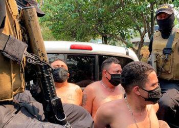 """Edwin Alexander Ramírez Hernández conocido como """"El Triste""""; Juan Gabriel Brizuela Cardoza alías """"El Pirata"""", y Ever Alexander Soriano Sarmiento apodado """"El Chele""""."""