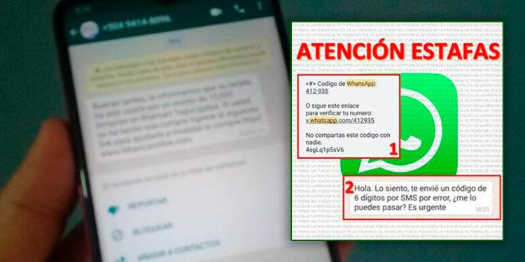 Los delincuentes contactan a sus víctimas por WhatsApp haciéndose pasar por personal de instituciones bancarias.