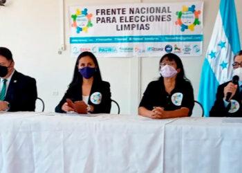 """Las organizaciones civiles se aglutinan y conforman el """"Frente Nacional para las Elecciones Limpias""""."""
