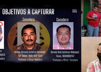 La ATIC procedió a ejecutar la captura de Hermes Geroncio Gutiérrez Hernández y la de su hijo Hermes Ariel Gutiérrez Velásquez, son acusados por el delito de lavado de activos.