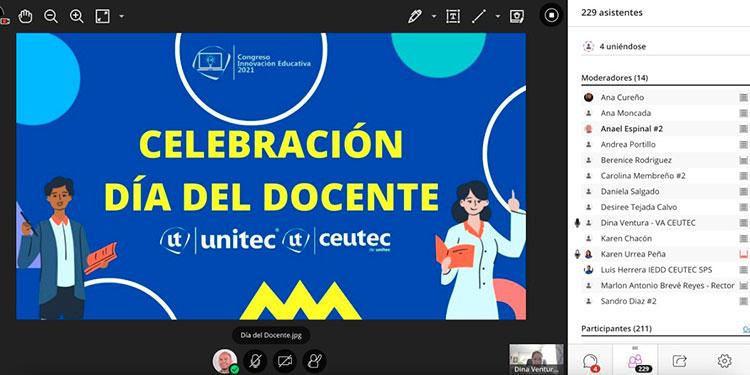 En el marco del Día del Maestro, la Universidad Tecnológica Centroamericana (Unitec) y el Centro Universitario Tecnológico (Ceutec), decidieron celebrar a sus docentes con el primer Congreso de Innovación Educativa de 2021.