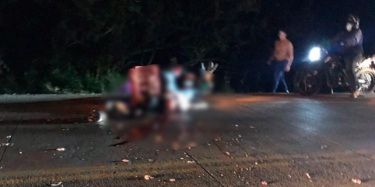 El cadáver quedó tendido sobre la carretera, de dónde fue levantando y trasladado hasta la morgue del Ministerio Público en Tegucigalpa.