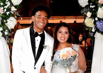 Gregory Reyes y Jackeline Suazo