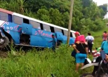 Las personas lesionadas fueron trasladadas hasta el hospital Atlántida de La Ceiba.