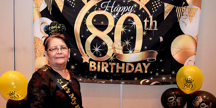 Carmen de Portillo celebró en grande su cumpleaños número 80