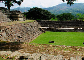 """El sitio arqueológico de Copán no sufrió daños significativos por los huracanes y tormentas tropicales """"Eta"""" e """"Iota""""."""