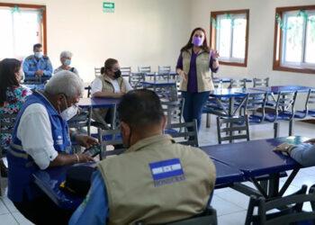 A la reunión asistieron las autoridades de la Secretaría de Relaciones Exteriores, Cruz Roja, la Secretaría de Salud, Instituto Nacional de Formación Profesional, Instituto Nacional de Migración, Conadeh y la Dirección Nacional de Intervención Social.