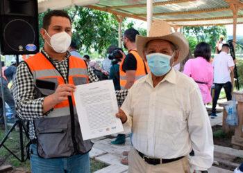 Pablo Carranza, después de 14 años viviendo en esta zona ahora será beneficiario en este reasentamiento y recibirá su vivienda.