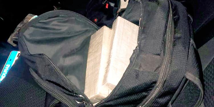 La mochila con los kilos de cocaína ya fue remitida al laboratorio de Químico-Toxicología de Medicina Forense.