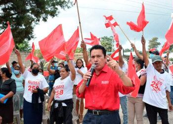 Eliseo Castro fue recibido por liberales de unas diez comunidades de Lepaterique, reunidos en la aldea La Brea.