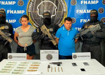 """Milton Yobany Zaldívar Hernández (23), alias """"El Justo"""" y Marbella Nicol Díaz Amaya (25), alias """"La Nicol""""."""