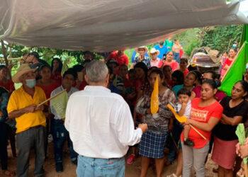 Esdras Amado López, candidato presidencial del Partido Nueva Ruta.
