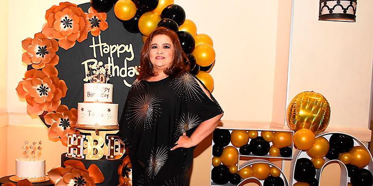 Telma celebró su cumpleaños con una fiesta retro.