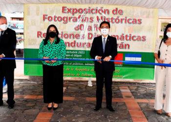 Gil Humberto Fuentes, Karen Najarro, embajador Diego Wen y Miriam Guzmán.