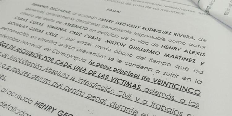 El fallo condenatorio fue confirmado durante audiencia de juicio oral y público en la Fiscalía de Comayagua.