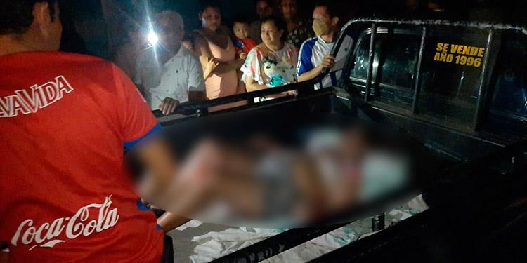 Las mujeres fueron rescatadas por sus familiares y su estado de salud es reservado, según el parte médico.