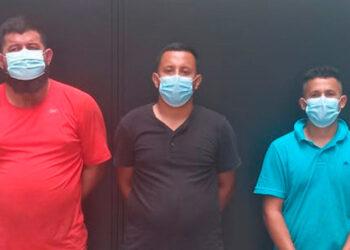 Franklin Eucebio Villanueva, José Andrés Hernández y Hernán Darío Romero.