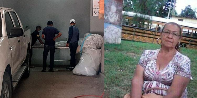Supuestos extorsionadores acabaron con la vida de la sexagenaria Rumilda Amparo Velásquez (foto inserta).