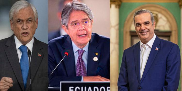 De los 35 presidentes o exmandatarios que figuran en los documentos, 14 son de Latinoamérica, tres de ellos en activo: el chileno Sebastián Piñera, el ecuatoriano Guillermo Lasso y el dominicano Luis Abinader.