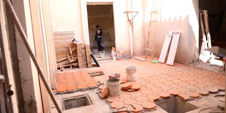 Las obras de construcción de la Unidad Departamental de Atención a Retornados avanzan a buen ritmo, según autoridades.