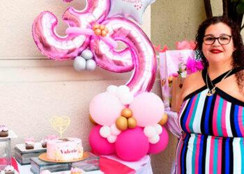 Valeria celebró su cumpleaños número 39 rodeada de su familia