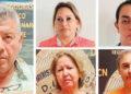 Los cinco encausados, acusados por el delito de lavado de activos.