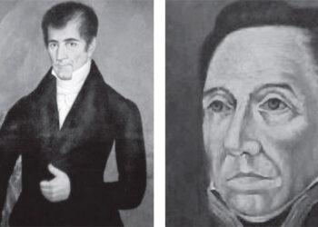 José Cecilio del Valle y Gabino Gainza.