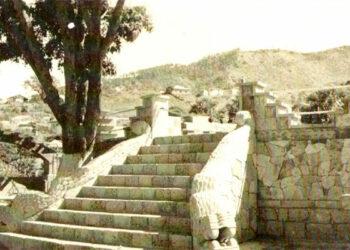 """1 En esta plataforma el 15 de Marzo de 1939 se inauguró el Jardín Maya """"La Concordia""""."""